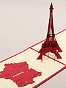 Three-dimensional France Eiffel Tower Greeting Card (More Colors)