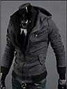 Gri închis Hoodie Contrast culoare de moda tricou Qn barbati