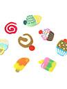 12 Färger 3D Fimo Slice Cake Nail Art Dekoration