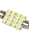 Blanc (2 pieces)-LEDD002B16 - Ampoules 211-2 212-2 569 578 Merdia Blanc 16-SMD 12V dome de feston LED