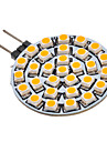 2W G4 / GU4(MR11) LED-spotlights 30 SMD 3528 90-110 lm Varmvit AC 12 V