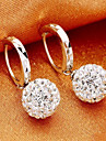 Hoop Earrings Women\'s Alloy Earring Rhinestone
