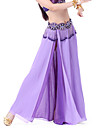 Belly Dance Skirts Women\'s Chiffon Split Front 1 Piece Blue / Fuchsia / Orange / Purple Belly Dance / BallroomSpring, Fall, Winter,