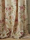(Två paneler) michelle luxury® land rosa kronblad ut miljövänlig gardin