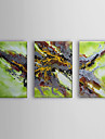 Hand Painted Oil Painting Abstract Intersection with Stretched Frame Set of 3 1310-AB1228