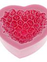 Silikon kakform Grädda ware Decorating Gum Paste Clay Soap Mögel Rose Shaped (1st)