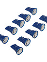 10st T10 1x5050SMD 10-20LM Bule Ljus LED lampa för bil (12V)