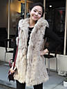 Sleeveless Hooded Faux Fur Party/Casual Vest(More Colors)