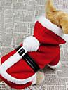 Chien Costume Manteaux Pulls a capuche Rouge Vetements pour Chien Hiver Couleur Pleine Cosplay Noel