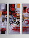 Hand Painted Oil Painting Abstract Scribbling with Stretched Frame Set of 3 1311-AB1106