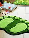 "Tapis de bain 16x24 Footprint Pattern ""Green"