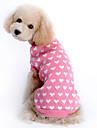 Katter / Hundar Tröjor Rosa Hundkläder Vinter Hjärtan Håller värmen