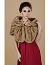 Fur Wraps Shrugs Faux Fur Chocolate / Camel Party/Evening / Casual