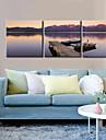 canvas Set / Sträckt Canvastryck Landskap Moderna / Klassisk,Tre paneler Horisontell Print Art väggdekor For Hem-dekoration