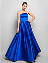 Prom / Formal Evening / Military Ball Dress - Plus Size / Petite A-line Strapless Floor-length Satin