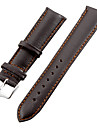 Unisex 20mm Leather Watch Band (Brown)