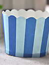 Blue Strip Cupcake Wrappers - Set of 50