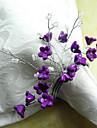 Fleur pourpre perles acryliques anneau de serviette, Dia4.2-4.5cm Ensemble de 12