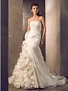 Trumpet/Mermaid Plus Sizes Wedding Dress Court Train Strapless