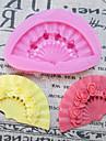 Ett Hål Fan silikonform Fondant Formar Sugar Craft Verktyg Harts blommor Mould formar för kakor