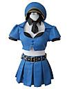 Inspirerad av LOL Cosplay Video Spel Cosplay Kostymer/Dräkter cosplay Suits Lappverk Blå Topp / Kjol / Holk