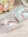 Floral Pearl Paper Wedding Favor Boxes - Set of 12 (More Colors)
