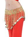 Belly Dance Belt Women\'s Polyester Beading / Coins Gold Belly Dance / Ballroom Spring, Fall, Winter, Summer