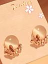 J & G Elegant Diamonade Opal Stud Örhängen