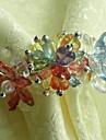 multi-couleurs anneau acrylique serviette ensemble de 1