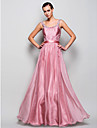 Prom/Military Ball/Formal Evening Dress - Pearl Pink Plus Sizes A-line/Princess Straps Floor-length Chiffon