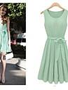 Women\'s Creased Chiffon Dress