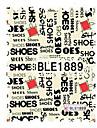 5pcs dernieres impression de transfert de l\'eau chaussures de timbre graffiti art ongles autocollants ble Sery no.1889