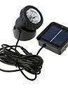 Powered Spotlight 6 LED solaire impermeable a l\'eau exterieure Jardin lampe d\'inondation (CEI-57157)