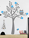 Owl Tree Hem Decal Wall Sticker