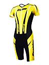 KOOPLUS® Triathlondräkt Dam / Herr / Unisex Kort ärm Cykel Andningsfunktion / Snabb tork / Fuktgenomtränglighet / Bärbaröverdrags /