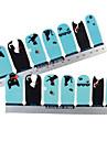 28PCS plein pointe Little Cat Nail Art Stickers muraux