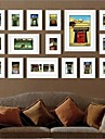 White Color Photo Wall Frame Collection Set of 16