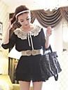 Women Faux Leather/Lace Waist Belt , Vintage