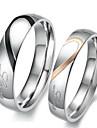 Inele Cuplu Inel de logodna Iubire de Mireasă Teak Heart Shape Argintiu Bijuterii Pentru Nuntă Petrecere Zi de Naștere Logodnă Zilnic1