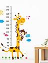 giraff tapet djur tecknad Mäthöjd klistermärken flytt barn unge sovrum