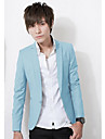 Men\'s Stand Collar Pure Color Jacket