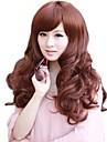 Женщины Стильный сторону взрыва Синтетические длинные волнистые парики 5 Имеющиеся цветы