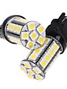 2 st 3157 Vit 30 5050 SMD LED Car Brake Stop lampa glödlampa