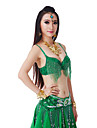 Belly Dance Tops Women\'s Performance Polyester Sequins / Tassel(s) 1 PieceBlack / Fuchsia / Green / Light Blue / Pink / Purple / Red /