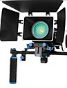 Kit de la pelicula Rig Con Follow Focus + Shoulder Mount Holder + Mattebox Camara Rig para camaras Reflex