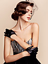 Wrist Length Fingertips Glove Faux Leather General Purposes & Work Gloves/Party/ Evening Gloves