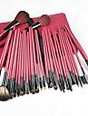 30PCS Pro Red&Black Deluxe Mineral Make Up Brush&Bag Set