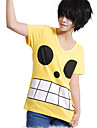 Inspirerad av One Piece Monkey D. Luffy Animé Cosplay Kostymer/Dräkter Cosplay Toppar / Bottoms Tryck Gul T-shirt