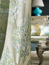 Two Panels Curtain European , Floral / Botanical Bedroom Polyester Material Curtains Drapes Home Decoration For Window