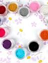12PCS Flera färger Velvet Dekorativa Powder Set Nail Art Decoration